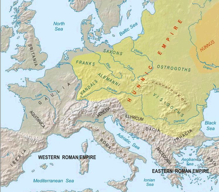 Империя гуннов при Аттиле