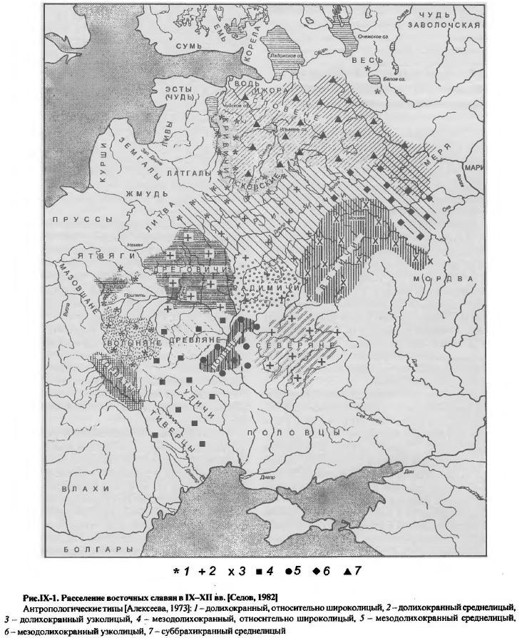 Расселение восточных славян в